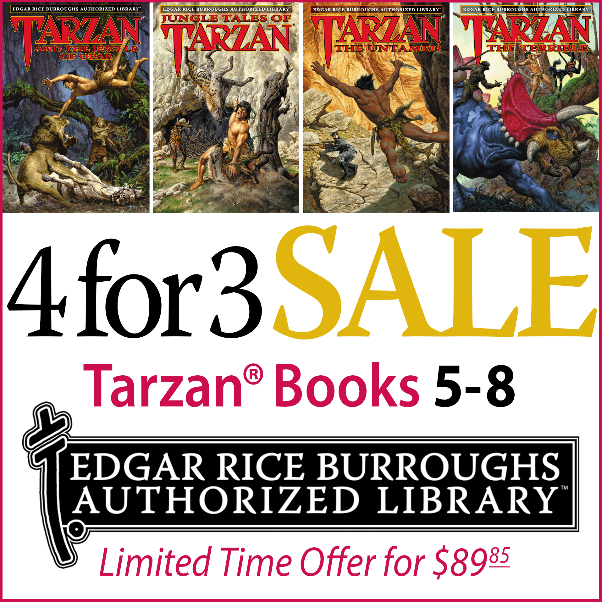 Edgar Rice Burroughs Authorized Library Sale (Books 5-8)