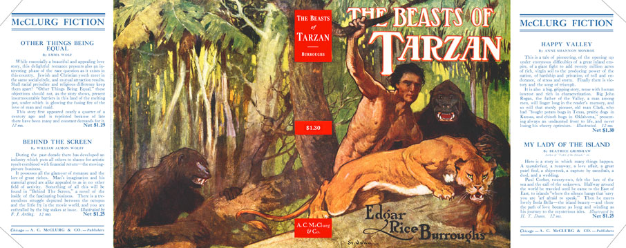 Beasts of Tarzan Dustjacket