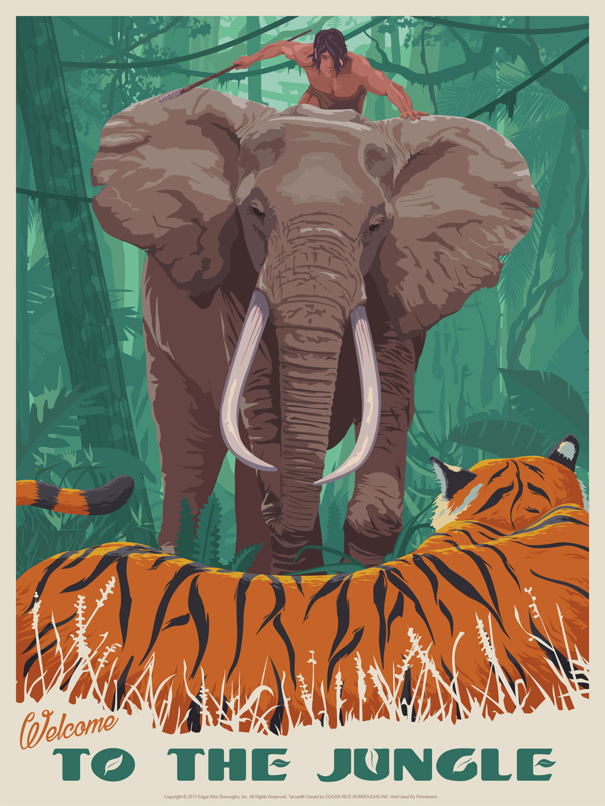 5495dad295 Tarzan  Welcome to the Jungle Poster